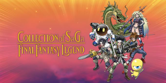 Collection of SaGa Final Fantasy Legend key art