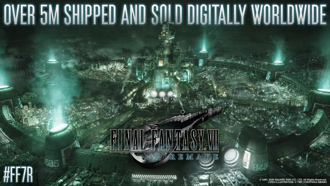 Final Fantasy VII Remake sold over 5 million units worldwide