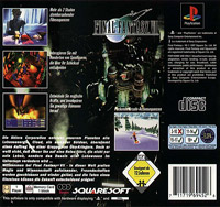 Final Fantasy VII European back cover